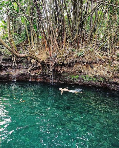 Capek Dan Jenuh, Obati Saja dengan Mandi Segernya Air Blue Lagoon Sendang Tirta Budi Sleman Jogja