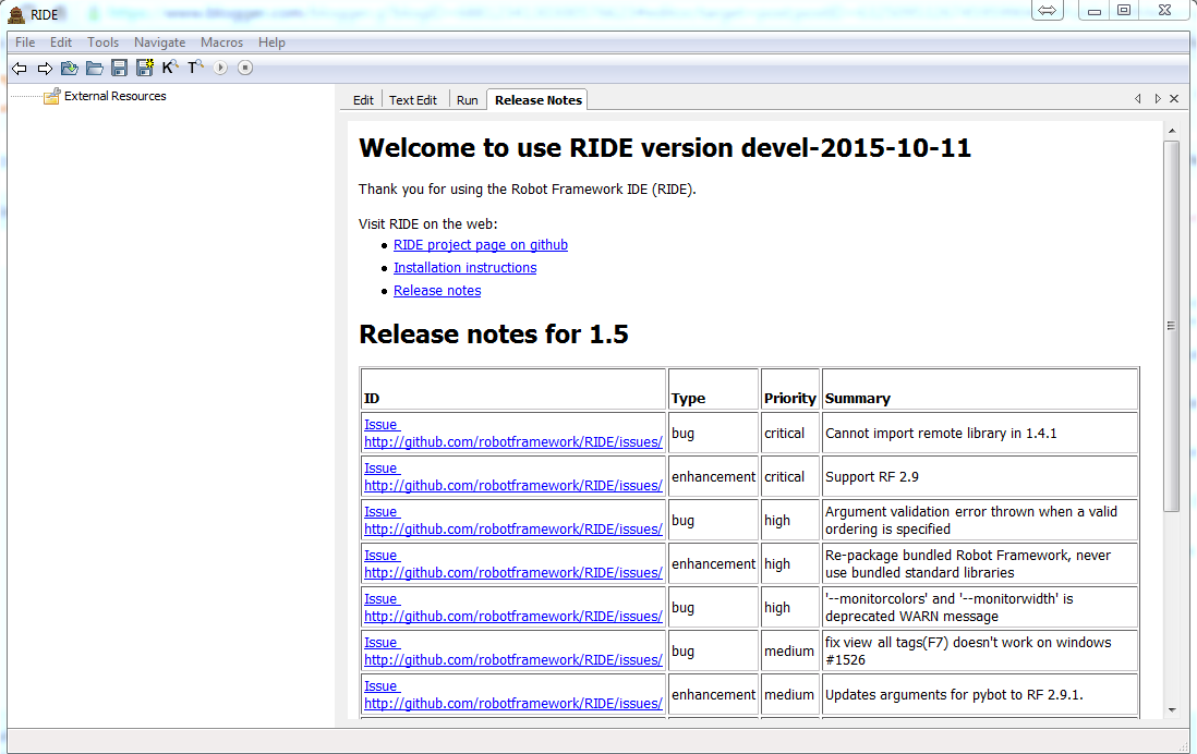 Knowledge Share: How to install RIDE Editor for Robot