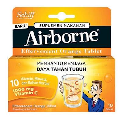 Airborne Effervescent - Manfaat, Dosis, Efek Samping dan Harga