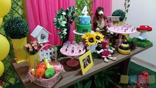 Decoração festa infantil Masha e o Urso Porto Alegre