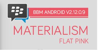 BBM MOD Materialism Pink V2.12.0.9 Apk