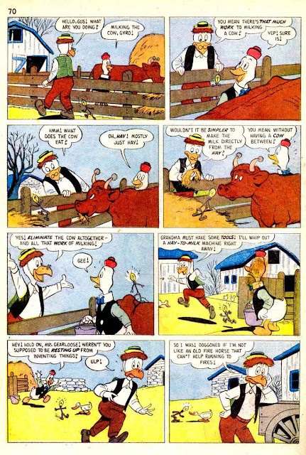 Christmas Parade v1 #8 dell donald duck comic book page art by Carl Barks
