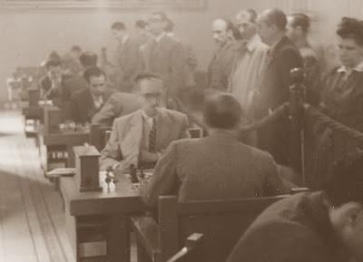 Sala de juego del XIX Campeonato Individual de Cataluña 1950/51