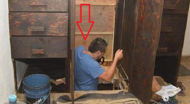 Η αστυνομία βρήκε κάτω από αυτό το ντουλάπι κάτι απίστευτο που δεν βάζει ο νου σας