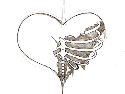 The boy wanted revenge  The girl wanted love Pencil Drawings Of Broken Hearts