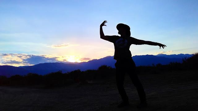 Pôr-do-sol na pré-cordilheira dos Andes, em Mendoza.