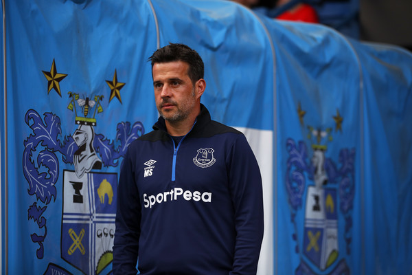 Everton manager Marcos Silva looks on during a preseason friendly against Bury