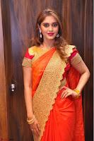 Surabhi looks stunning in Saree at Nakshatra Fashion Store Launch at Suchitra X Road 01.JPG