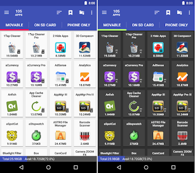 Tampilan Aplikasi AppMgr III Pro