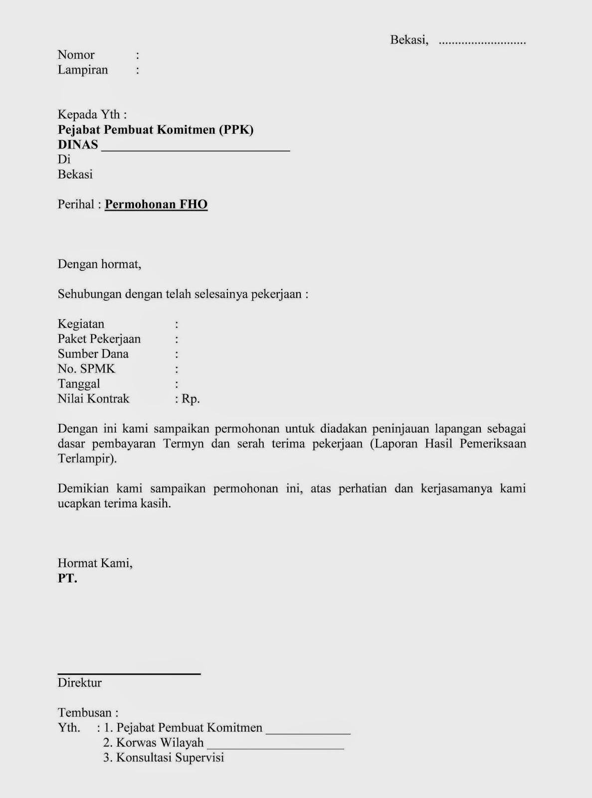 Contoh Surat Permohonan Fho Peninjauan Lapangan Wisanggeni