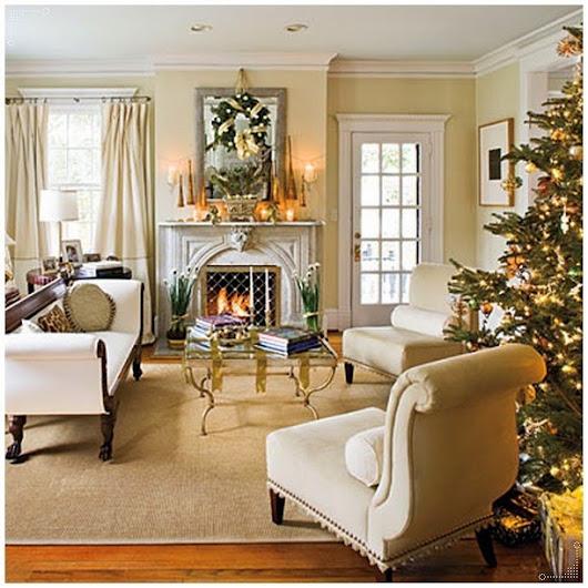 Living Room Ideas with Christmas Decoration - Interior Design and Decorating Articles