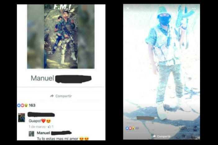 Los hijos del narco en Guerrero, Manuel es parte de ellos en fotos posa con AK-47, AR 15 y uniformes militares