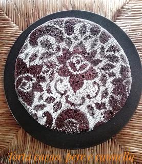 Torta pere, cannella e cacao