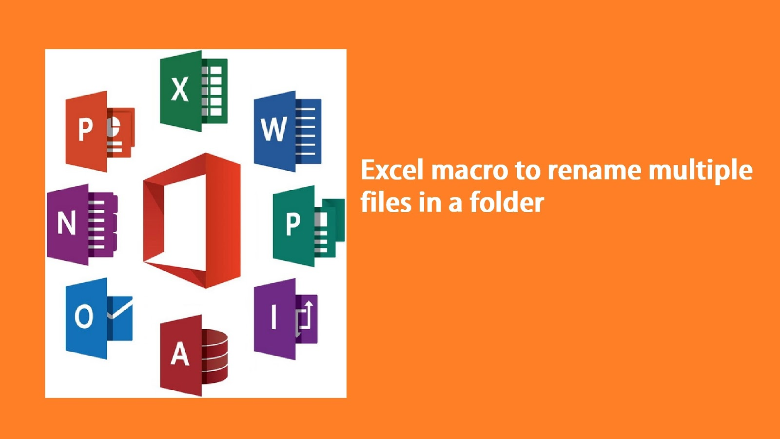 Rename multiple files in a folder with a excel macro ibookread PDF