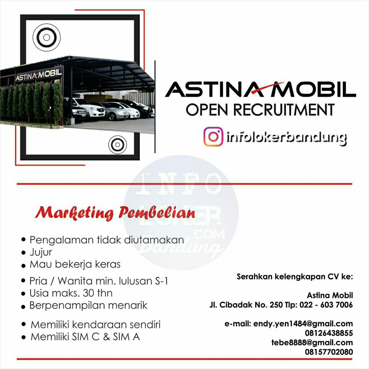Lowongan Kerja Astina Mobil Bandung Juli 2018