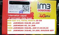 Perdana Indosat 4gb + 4gb (Promo Bonus kuota 2gb + gratis 500mb)