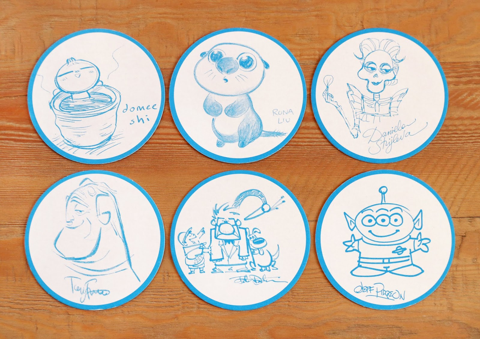 Pixar Pier Lamplight Lounge Coasters
