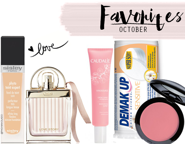 Favorites, Beauty, Makeup, SisleyParis, demakeup, Chloé, caudalíe, makeupfactory, top5, vinosource, sensitive