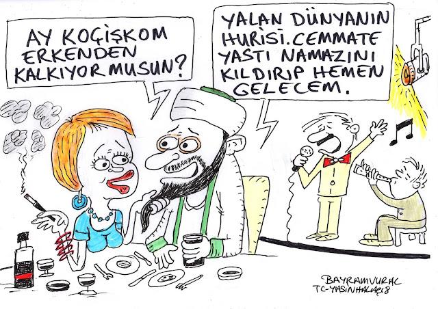 inegöl imamı karikatür
