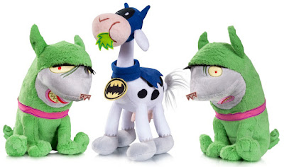 DC Comics Super Pets Series 4 Plush Figures by Art Baltazar - Bat-Cow and Crackers & Giggles