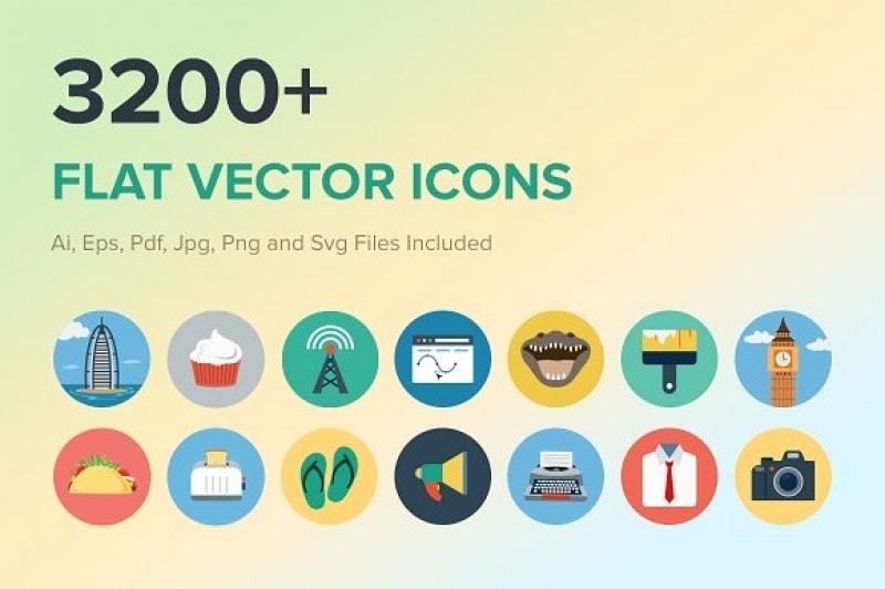 Chia sẻ 3200+ Vector Icon dạng phẳng