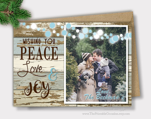 rustic country christmas cards photo cards - Rustic Christmas Cards