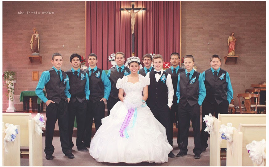Jill And The Little Crown Quinceanera Blessed Sacrament