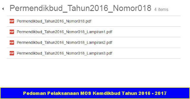 Download Gratis Pedoman Pelaksanaan MOS Kemdikbud Tahun 2016 - 2017
