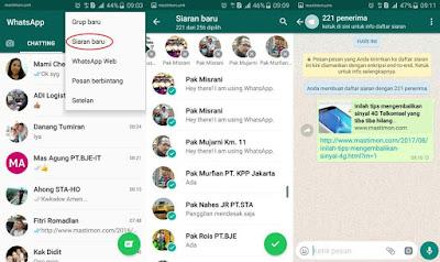 Cara membuat Siaran atau mengirim status WhatApp ke banyak orang sekaligus