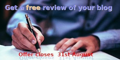 free blog review offer
