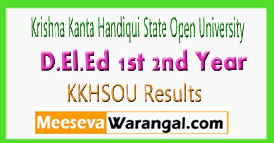 KKHSOU D.El.Ed 1st 2nd Year Result 2017