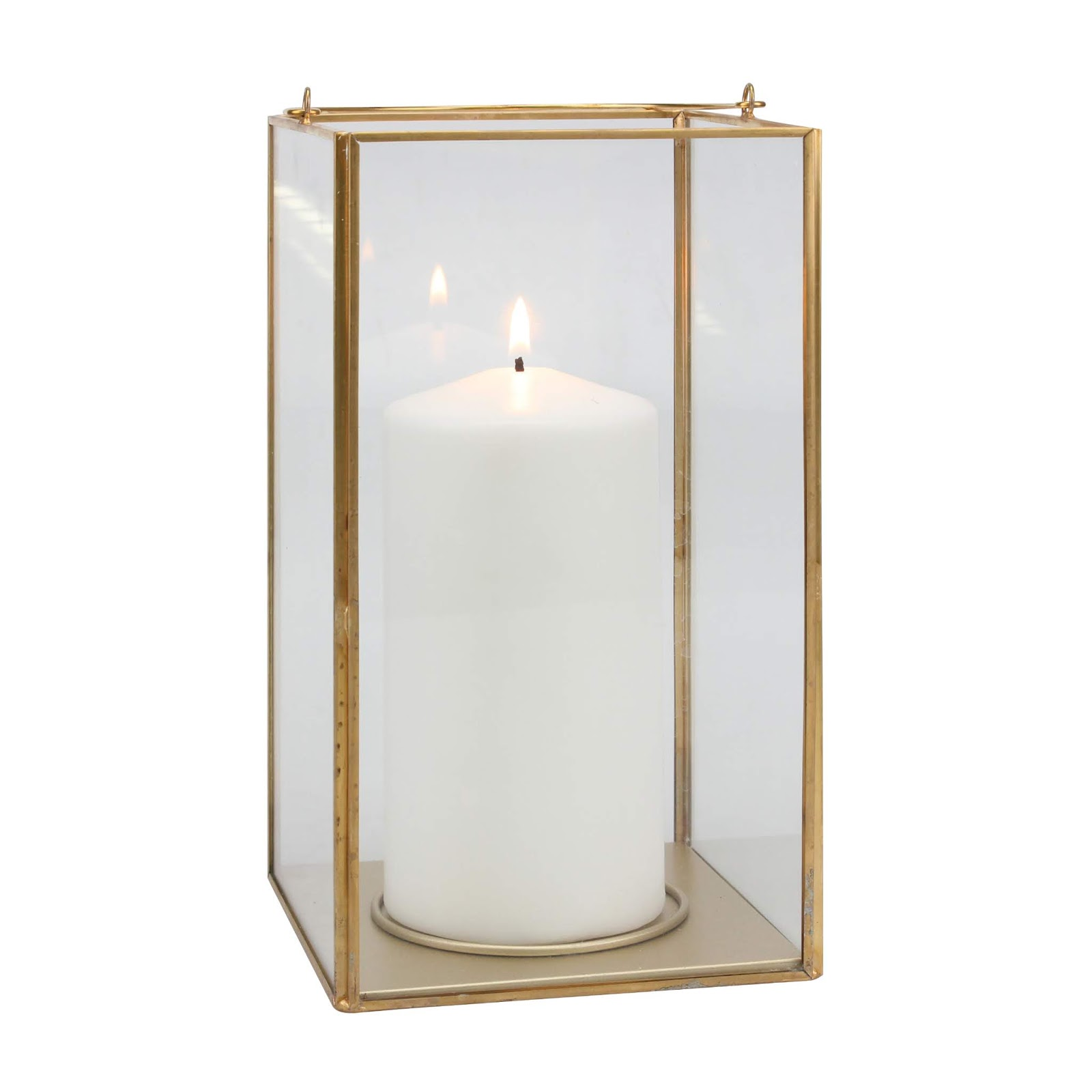 Simple gold/brass candle lantern