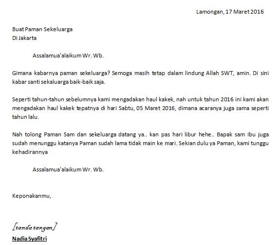 Contoh Surat Tidak Resmi, Surat Resmi dan Perbedaannya