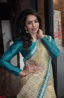 Tejaswi Madivada looks super cute in Saree at V care fund raising event COLORS ~  Exclusive 015.JPG