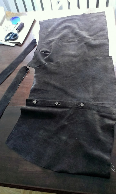 spódnica z koszuli