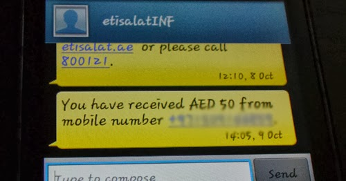 How to transfer a load with Etisalat mobile in UAE? - Boy