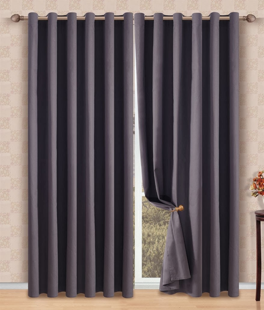 Solid Decorative Gray Heavy Window Top Curtain Panel made of 100%Egyptian Cotton