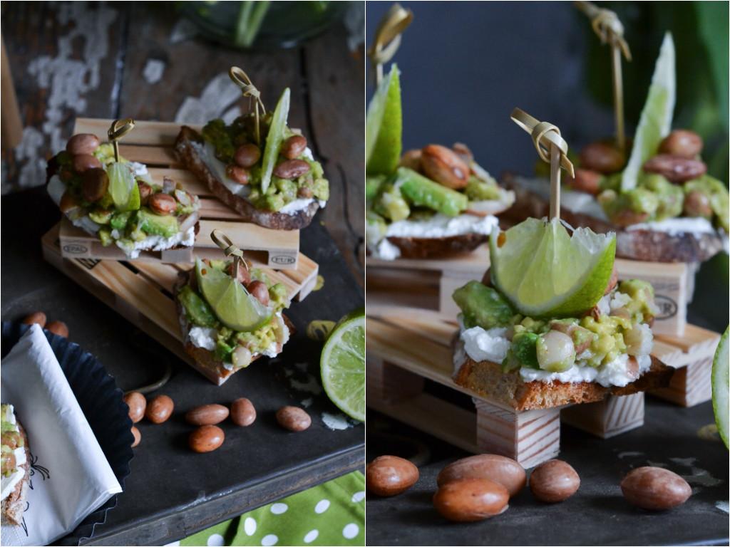 christina macht was fingerfood crostini mit avocado wachtelbohnen. Black Bedroom Furniture Sets. Home Design Ideas