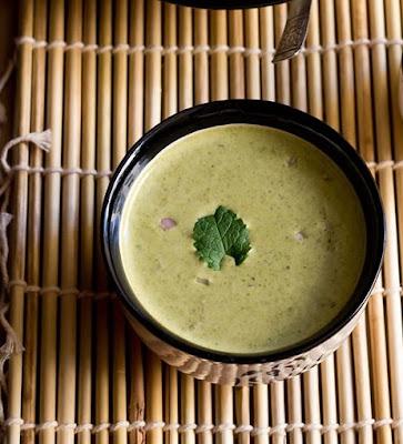 (Πηγή: http://www.vegrecipesofindia.com/mint-coriander-raita/)