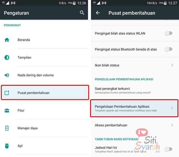 pengaturan notifikasi whatsapp di android