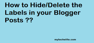 Hide Blogger Labels
