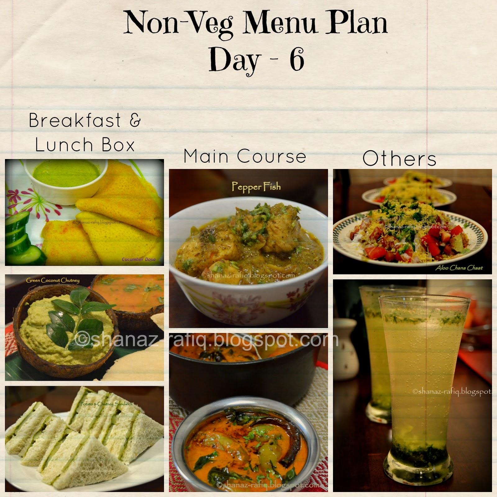 Love to cook weekly menu plan 3 vegetarian non vegetarian meal plan day 6 forumfinder Image collections