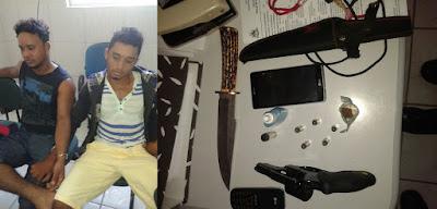 Policiais Militares de Brejo prendem dupla por porte ilegal de armas