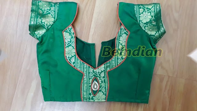 How To Make Paithani Silk SAri Blouse Design Cutting And Stitching