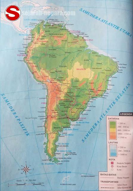 Gambar Peta Atlas Amerika Selatan 2018