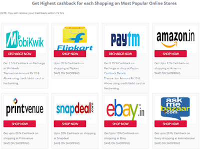shop and earn cashback