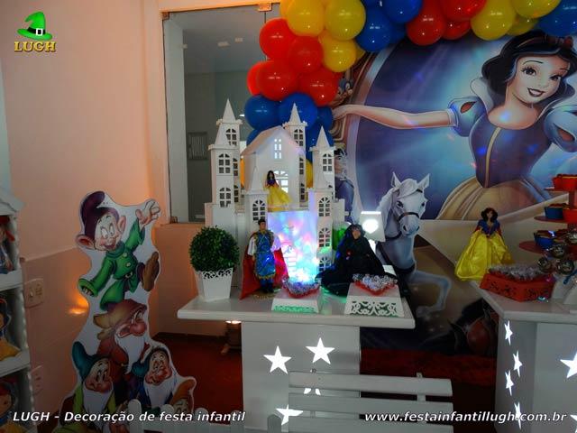 Decoração de aniversário Branca de Neve - Festa infantil - Mesa provençal