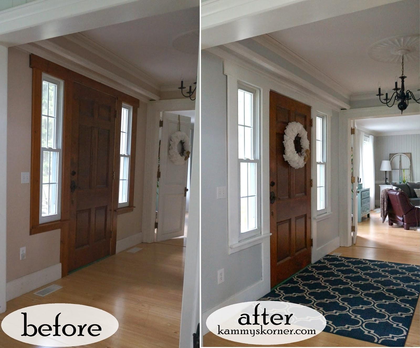 Kammy S Korner Updating The Foyer 10 Paint Interior Wood Trim White Great