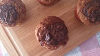 muffins platano crema de cacao banana nocilla nutella magdalenas alma obregon receta desayuno merienda postre ricos jugosos esponjosos tiernos cuca