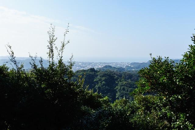 勝上けん展望台からの眺め~鎌倉